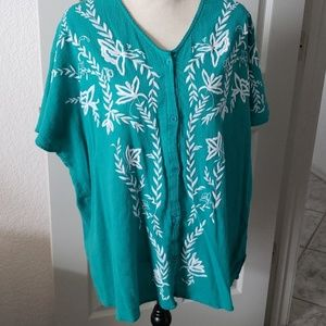 Catherine's Turquoise Blouse